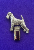 Dog Show Breed Ring Number Clip - Airedale - FULL BODY Silver or Gold Style